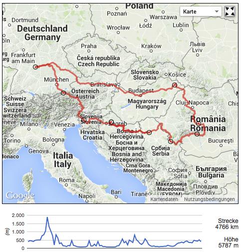 Way to Romania – Track
