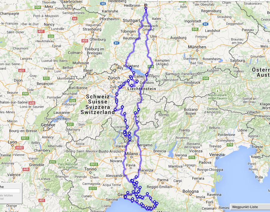 Reiseplanung: Ab an die italienische Riviera